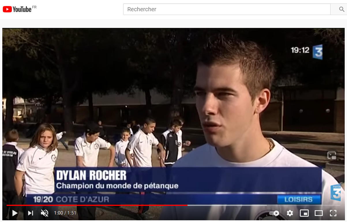 Reportage France3 sur DYLAN ROCHER